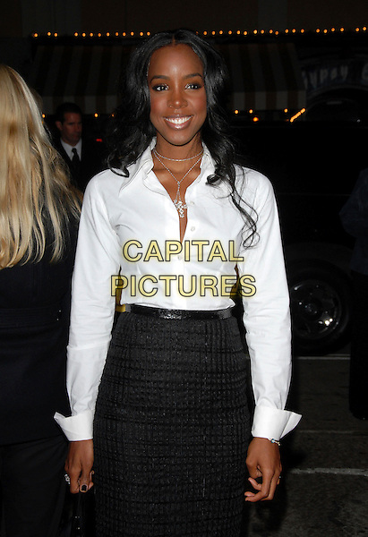 "KELLY ROWLAND.The Columbia Pictures' World Premiere of ""Stranger than Fiction"" held at The Mann Village Theatre in Westwood, California on October 30, 2006.Copyright 2006 Debbie VanStory.Ref: DVS.half length black skirt white shirt .www.capitalpictures.com.sales@capitalpictures.com.©Debbie VanStory/Capital Pictures"