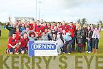 CHAMPIONS: The CSKA team and supporters winner's of the division 2A final at Mounthawk park, Tralee on Sunday.....