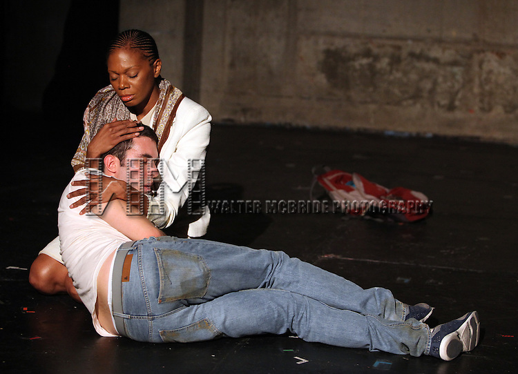 Dan Heching & Stephanie Pope Caffey.starring in Dan Heching Presents 'Sammy Gets Mugged'.at the Living Theatre in New York City.