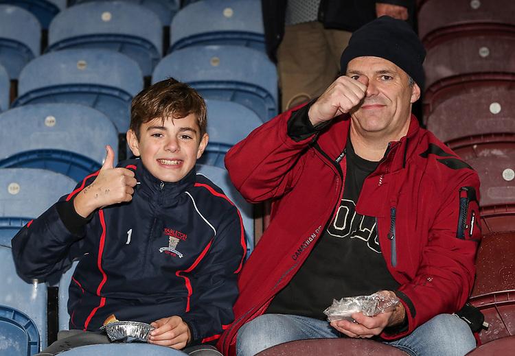 Burnley supporters<br /> <br /> Photographer Andrew Kearns/CameraSport<br /> <br /> The Premier League - Burnley v Liverpool - Wednesday 5th December 2018 - Turf Moor - Burnley<br /> <br /> World Copyright &copy; 2018 CameraSport. All rights reserved. 43 Linden Ave. Countesthorpe. Leicester. England. LE8 5PG - Tel: +44 (0) 116 277 4147 - admin@camerasport.com - www.camerasport.com