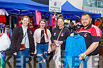 Liam Murphy with l-r: Margaret Murphy, Molly and Anne Gabbett at the Killarney Rugby club  Flea MArket stall in Scotts Lane Killarney on Sunday