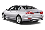Car pictures of rear three quarter view of 2017 BMW 5-Series Sport 4 Door Sedan Angular Rear