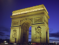Arc de triomphe Paris, nuit Arch of Triumph, Paris at dusk