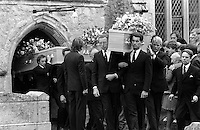Pix: Copyright Anglia Press Agency/Archived via SWpix.com. The Bamber Killings. August 1985. Murders of Neville and June Bamber, daughter Sheila Caffell and her twin boys. Jeremy Bamber convicted of killings serving life...copyright photograph>>Anglia Press Agency>>07811 267 706>>..Funerals at Tolleshunt D'Arcy, Essex. no date..ref 0003 neg 5....