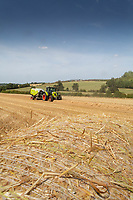 Claas Rolant 540 working in Suffolk<br />