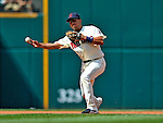 14 September 2008: Cleveland Indians' shortstop Jhonny Peralta in action against the Kansas City Royals at Progressive Field in Cleveland, Ohio. The Royal defeated the Indians 13-3 to take the 4-game series three games to one...Mandatory Photo Credit: Ed Wolfstein Photo