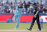 Joe Root (England) in action as Tom Latham (New Zealand) backs up during England vs New Zealand, ICC World Cup Cricket at The Riverside Ground on 3rd July 2019