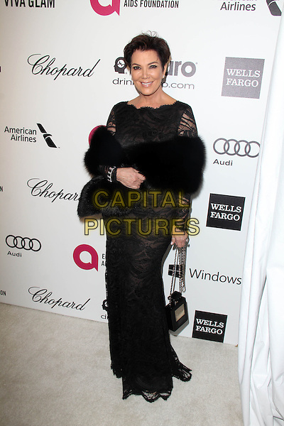 WEST HOLLYWOOD, CA - March 02: Kris Jenner at the 22nd Annual Elton John AIDS Foundation Oscar Viewing Party Arrivals, Private Location, West Hollywood,  March 02, 2014. <br /> CAP/MPI/JO<br /> &copy;JO/MPI/Capital Pictures