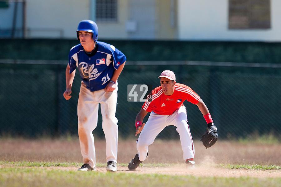BASEBALL - POLES BASEBALL FRANCE - TRAINING CAMP CUBA - HAVANA (CUBA) - 13 TO 23/02/2009 - CUBAN PLAYER, SIMON VICENTE (FRANCE)