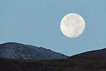 Full moon over mountains, Sarychat-Ertash Strict Nature Reserve, Tien Shan Mountains, eastern Kyrgyzstan