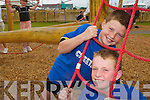 CLIMBING FUN: Taking part in the Banna Summer Camp were Ivan Parker and Dylan Fitzgerald..