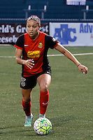 Rochester, NY - Saturday May 21, 2016: Western New York Flash defender Jaelene Hinkle (15). The Western New York Flash defeated Sky Blue FC 5-2 during a regular season National Women's Soccer League (NWSL) match at Sahlen's Stadium.