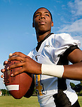Kenneth Guiton is the senior quarterback at Eisenhower High School. Tuesday, Aug. 19, 2008, in Houston. ( Steve Campbell / Chronicle)