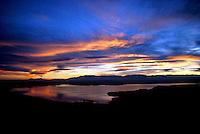 Lake Pueblo with sunset