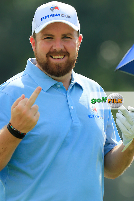 Shane Lowry (IRL) European Team during Pro-Am Day of the 2016 Eurasia Cup held at the Glenmarie Golf &amp; Country Club, Kuala Lumpur, Malaysia. 14th January 2016.<br /> Picture: Eoin Clarke | Golffile<br /> <br /> <br /> <br /> All photos usage must carry mandatory copyright credit (&copy; Golffile | Eoin Clarke)