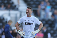 Derby County Head Goalkeeping Coach Shay Given during pre game warm up.<br /> Derby County vs West Bromwich Albion, Sky Bet EFL Championship Football at Pride Park Stadium on 24th August 2019