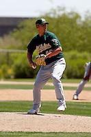 Sam Demel - Oakland Athletics - 2009 spring training.Photo by:  Bill Mitchell/Four Seam Images