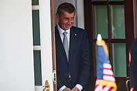 Czech Republic Prime Minister Andrej Babi&circ; departs the White House in Washington, District of Columbia on Thursday, March 7, 2019. <br /> Photo Credit: Ting Shen/CNP/AdMedia