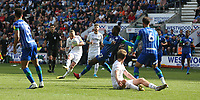 Leeds United's Adam Forshaw shoots over the bar<br /> <br /> Photographer Stephen White/CameraSport<br /> <br /> The EFL Sky Bet Championship - Wigan Athletic v Leeds United - Saturday 17th August 2019 - DW Stadium - Wigan<br /> <br /> World Copyright © 2019 CameraSport. All rights reserved. 43 Linden Ave. Countesthorpe. Leicester. England. LE8 5PG - Tel: +44 (0) 116 277 4147 - admin@camerasport.com - www.camerasport.com