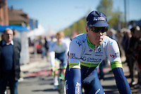 Winner of the 2016 Paris-Roubaix and birthday boy Mathew Hayman (AUS/Orica-GreenEDGE), turning 38 today, on his way to the start<br /> <br /> Fl&egrave;che Wallonne 2016