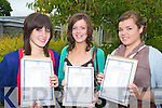 Killarney Pres girls Irene O'Donoghue, Eilis Fleming and Aisling O'Donoghue were delight with their leaving cert results on Wednesday......