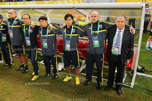Albert Zaccheroni Head Coach (JPN), <br /> June 19, 2013 - Football / Soccer : <br /> FIFA Confederations Cup Brazil 2013, Group A <br /> match between Italy 4-3 Japan <br /> at Arena Pernambuco, Recife, Brazil. <br /> (Photo by Daiju Kitamura/AFLO SPORT)