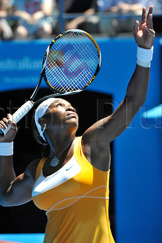 28.01.2010 Australian Open Tennis, day 11, Melbourne, Australia. Serena Williams (USA) Vs Na Li (CHN).