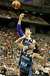 Argentina's Andres Nocioni (l) and Luis Scola during friendly match.July 22,2012. (ALTERPHOTOS/Acero)