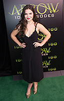 VANCOUVER, BC - OCTOBER 22: Madison McLaughlin at the 100th episode celebration for tv's Arrow at the Fairmont Pacific Rim Hotel in Vancouver, British Columbia on October 22, 2016. Credit: Michael Sean Lee/MediaPunch