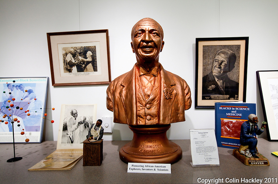SCIENCE EXPERIENCE: George Washington Carver is among the African American scientists celebrated at The Black Archives in Tallahassee, Fla..COLIN HACKLEY PHOTO
