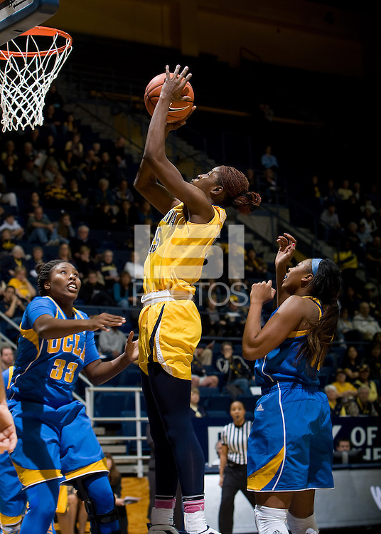 Gennifer Brandon of California shoots the ball during the game against UCLA at Haas Pavilion in Berkeley, California on January 20th, 2013.   California defeated UCLA, 70-65.