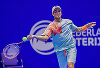 Rotterdam, Netherlands, December 12, 2017, Topsportcentrum, Ned. Loterij NK Tennis, Boy Westerhof (NED)<br /> Photo: Tennisimages/Henk Koster