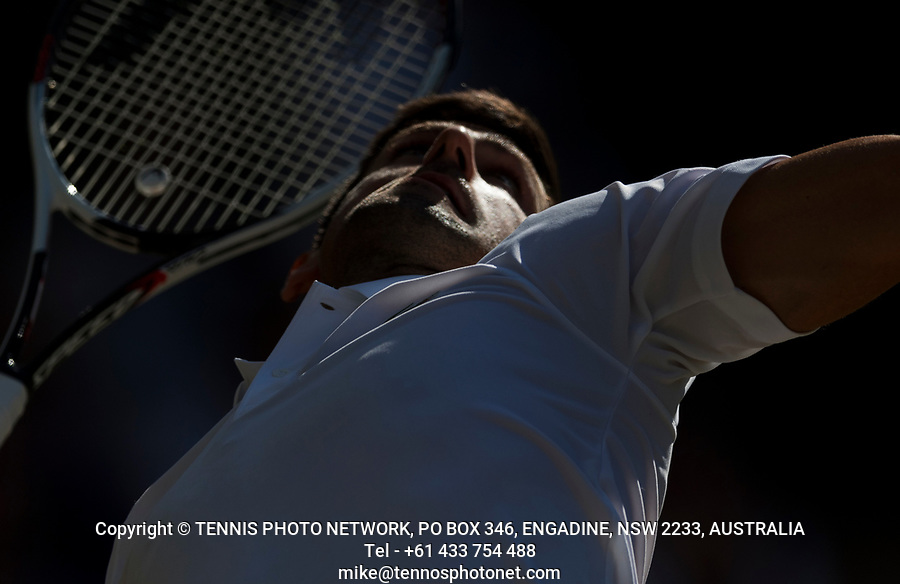 NOVAK DJOKOVIC (SRB)<br /> <br /> TENNIS - THE CHAMPIONSHIPS - WIMBLEDON- ALL ENGLAND LAWN TENNIS AND CROQUET CLUB - ATP - WTA -ITF - WIMBLEDON-SW19, LONDON, GREAT  BRITAIN- 2017  <br /> <br /> <br /> &copy; TENNIS PHOTO NETWORK