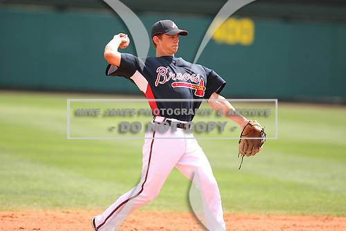 March 23rd 2008:  Brent Lillibridge of the Atlanta Braves during a Spring Training game at Osceola County Stadium in Kissimmee, FL.  Photo by:  Mike Janes/Four Seam Images