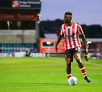 Lincoln City's Bernard Mensah<br /> <br /> Photographer Chris Vaughan/CameraSport<br /> <br /> The EFL Checkatrade Trophy Group H - Lincoln City v Mansfield Town - Tuesday September 4th 2018 - Sincil Bank - Lincoln<br />  <br /> World Copyright © 2018 CameraSport. All rights reserved. 43 Linden Ave. Countesthorpe. Leicester. England. LE8 5PG - Tel: +44 (0) 116 277 4147 - admin@camerasport.com - www.camerasport.com