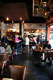 USA, California, Oakland, inside of Chop Bar which is open all day and normally houses a mixed crowd of individuals