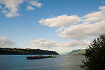 Barge Travelling Along the Columbia River, Oregon