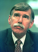 Washington, DC - June 4, 1997 - Stephen Wolf, CEO - US Airways, appears on a panel before the United States Senate Commerce, Science and Transportation Subcommittee hearing on the US - Britain aviation negotiations.  <br /> Credit: Ron Sachs / CNP