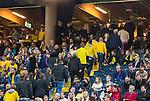 Solna 2015-09-08 Fotboll EM-kval , Sverige - &Ouml;sterrike :  <br /> Sveriges publik p&aring; v&auml;g att l&auml;mna matchen innan slutsignalen under matchen mellan Sverige och &Ouml;sterrike <br /> (Photo: Kenta J&ouml;nsson) Keywords:  Sweden Sverige Solna Stockholm Friends Arena EM Kval EM-kval UEFA Euro European 2016 Qualifying Group Grupp G &Ouml;sterrike Austria supporter fans publik supporters depp besviken besvikelse sorg ledsen deppig nedst&auml;md uppgiven sad disappointment disappointed dejected