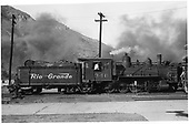 D&amp;RGW #346 at Durango, Colorado. Renumbered from D&amp;RGW #406.<br /> D&amp;RGW  Durango, CO  9/9/1945
