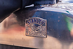 WOODBURY, CT. 16 July 2019-071619 - The front of an authentic Stanley Steamer at the Hotchkissville Firehouse in Woodbury on Tuesday. A large group of owners of Stanley Steamers from around the country have gathered driving around the area touring the Litchfield Hills. Bill Shettle Republican-American