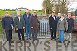 Plaque Unveiling in Knocknagoshel on Sunday in commemoration of five soldiers of the national army who were killed and one seriously injured in a trap-mine in Baranarig Knocknagoshel on March 6th, 1923.  The plaque was erected by Knocknagoshel Fine Geal Club.  Pictured R-L: Larry Keane, Joan Griffin, Kerry Keane, Billy Brosnan (organised the event and plaque), Frank Mansell, Denis Brosnan, John Griffin (cordal) and Batt Brosnan of Currow.  All of Knocknagoshel.
