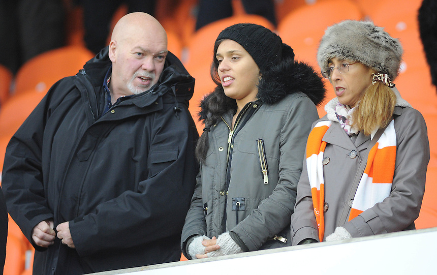 Blackpool fans before kick-off<br /> <br /> Photographer Kevin Barnes/CameraSport<br /> <br /> Football - The Football League Sky Bet Championship - Blackpool v Birmingham City - Saturday 6th December 2014 - Bloomfield Road - Blackpool<br /> <br /> &copy; CameraSport - 43 Linden Ave. Countesthorpe. Leicester. England. LE8 5PG - Tel: +44 (0) 116 277 4147 - admin@camerasport.com - www.camerasport.com