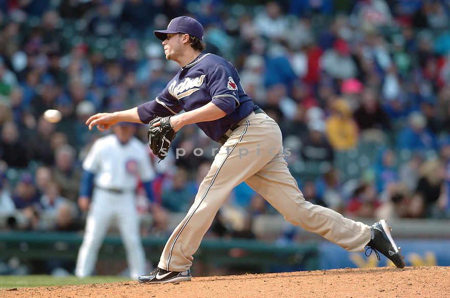 CLA MEREDITH, of the San Diego PadresChicago Cubs, in action during the Padres game against the Chicago Cubs in Chicago, Illinois on April 17, 2007...PADRES win 4-3...DAVID DUROCHIK / SPORTPICS..