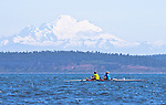 Port Townsend, Rat Island Regatta, rowers, racing, Jeff KnaKal, Thresa Knakal, Mill Creek, Sound Rowers, Rat Island Rowing Club, Puget Sound, Olympic Peninsula, Washington State, water sports, rowing, competition,