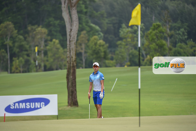 Keita NAKAJIMA (JPN) looks over his chip shot on 16 during Rd 3 of the Asia-Pacific Amateur Championship, Sentosa Golf Club, Singapore. 10/6/2018.<br /> Picture: Golffile | Ken Murray<br /> <br /> <br /> All photo usage must carry mandatory copyright credit (© Golffile | Ken Murray)