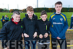 Michael John Shea, Cian Falvey, Dylan Francis and Callum Russell, students from Killorglin Community College, pictured at the Kerry ETB Athletics event at An Riocht, Castleisland on Friday last.