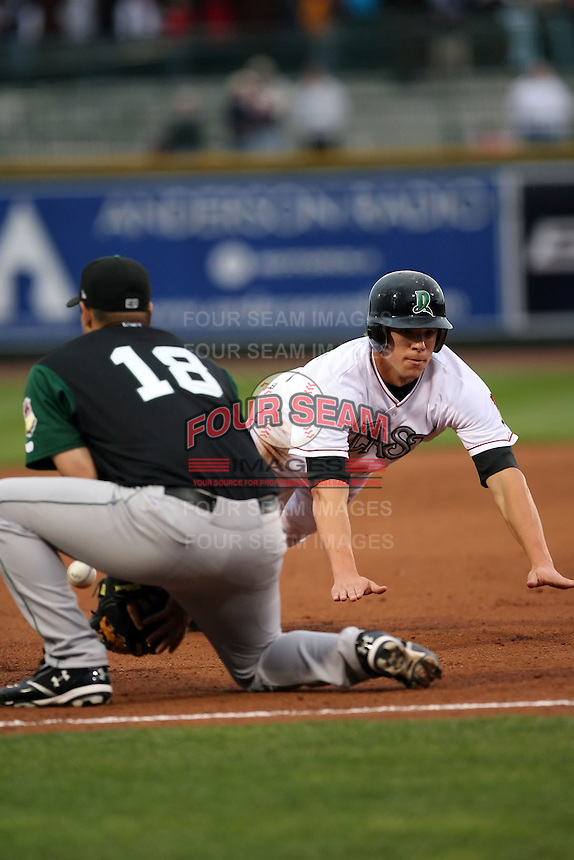 June 17th 2008:  Brandon Waring of the Dayton Dragons, Class-A affiliate of the Cincinnati Reds, during the Midwest League All-Star Game at Dow Diamond in Midland, MI.  Photo by:  Mike Janes/Four Seam Images