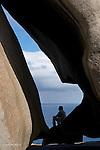 Ile Kangourou au sud d'Adelaide. Remarkable Rocks. Rochers de granite aux formes étranges.