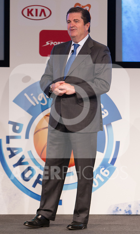 Endesa's president, Borja Prado during presentation of the Liga Endesa playoff. May 23,2016. (ALTERPHOTOS/Rodrigo Jimenez)
